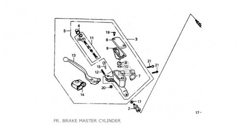 CR80R | CR125R | CR250R | CR500R Honda Rubber Cover Brake Lever