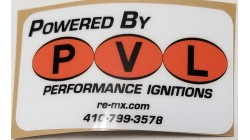 Powered By PVL Business Card Sticker