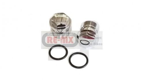 CR250M | CB450 | CB500 | CB550 | CB750 Honda Chrome Fork Bolt with O-Ring