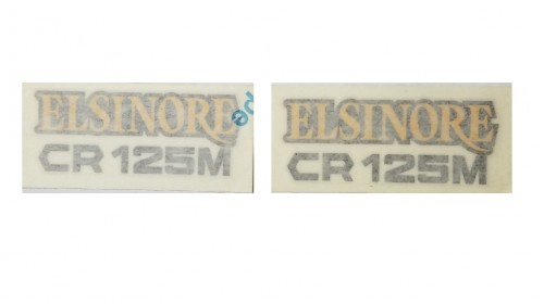 1974-1975 CR125 Side Cover Decal Set
