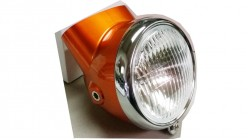 1969-1971 CT70  | CT70H Replacement Candy Topaz Orange Headlight and Bucket