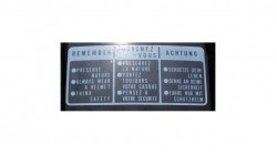 Preserve Nature Warning Decal Black | White Clear - 3 Languages