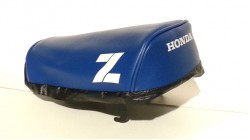 1985 Honda Z50R Seat Cover Blue with White Z