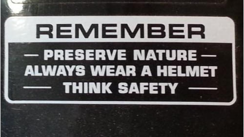 Preserve Nature Warning Decal Black | White