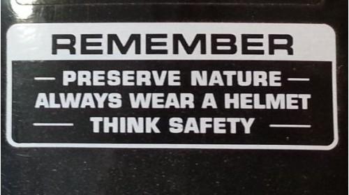 Preserve Nature Warning Decal Black   White