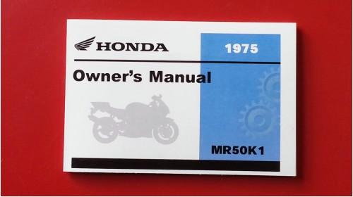 1974-1975 Honda MR50 Official Owner's Manual