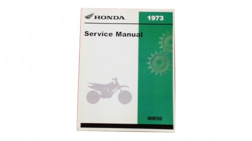 Honda MR50 Official Honda Shop Service Manual with Parts List/Diagrams
