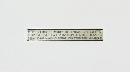 Z50A | SL70 | XL70 | XR75 Exhaust Warning Decal