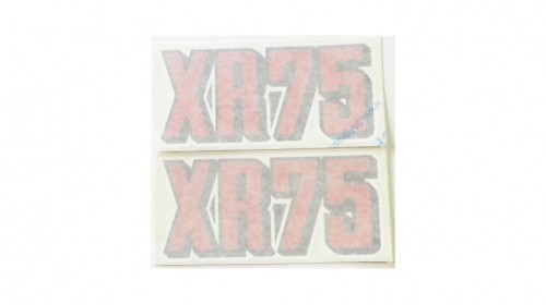 1973 XR75 Side Cover Decal Set
