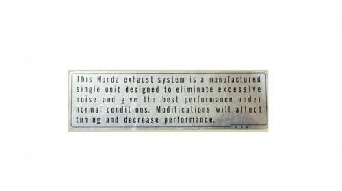 XR75 | XR80 | Z50R Honda Exhaust Warning Decal