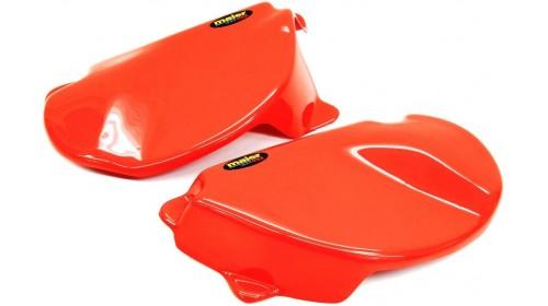 1977-78 XR75 | XR80 Side Cover Set Red | Orange