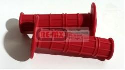 XR75 | CT70 | CR125 | CR250 | Z50 Waffle Grip - Red | Black