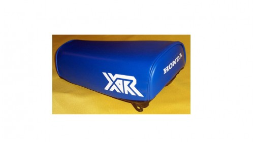 1984 Honda XR80 Seat Cover Blue with White XR