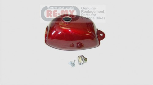 1972-1978 Z50A Replacement Fuel Tank Candy Red