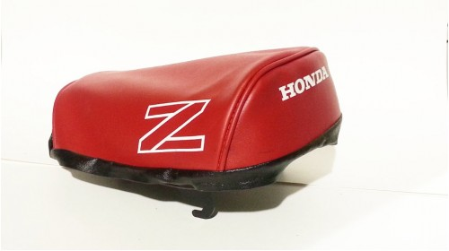 1986 Honda Z50RD Seat Cover Red with White Z